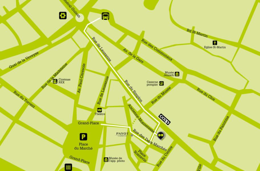 plan d'accès de Point Carré